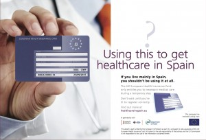 european health card in Spain