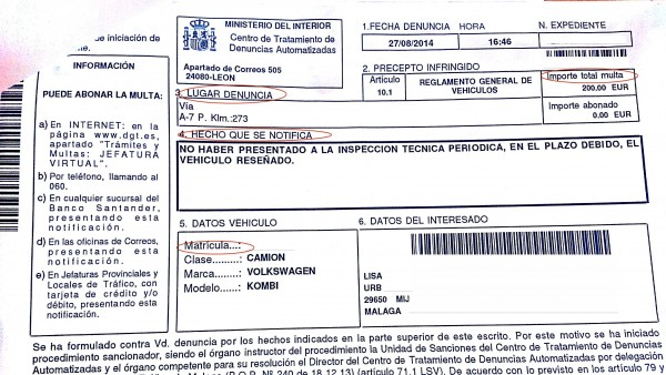 driving illegally in spain